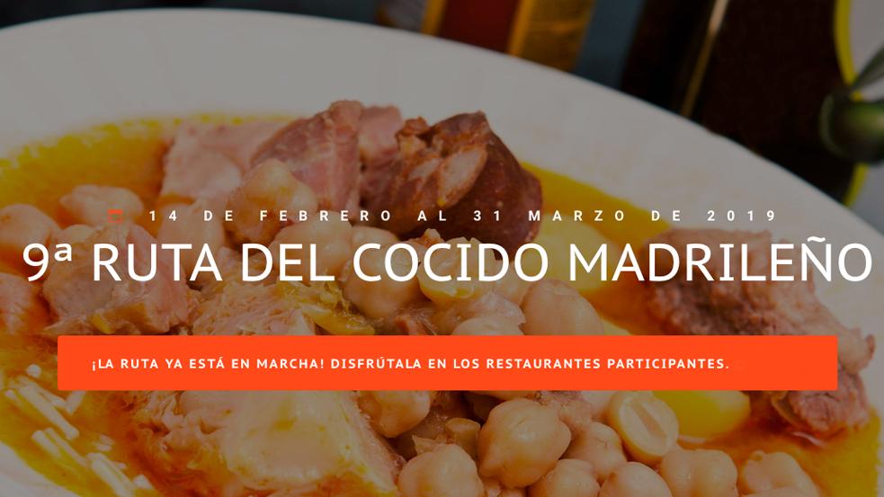 IX Ruta del cocido madrileño